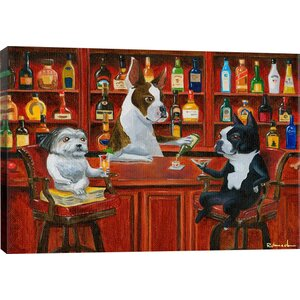 'Three Friends at the Bar' by Brian Rubenacker Graphic Art Print by East Urban Home
