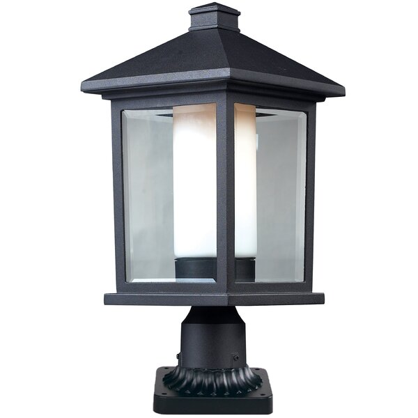 Savala Outdoor 1-Light Rectangle Pier Mount Light by Winston Porter