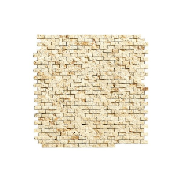 Port 12 x 12 Engineered Stone Mosaic Tile in Cream by Kellani