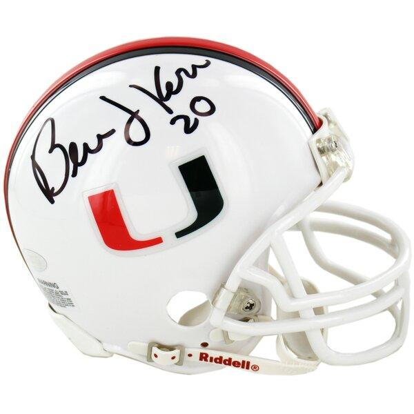 Bernie Kosar Signed University of Miami Replica Mini Helmet by Steiner Sports