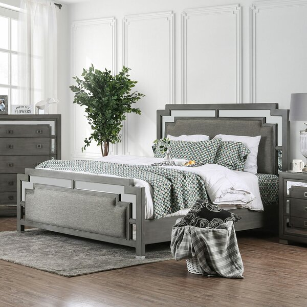 Angelita Upholstered Standard Bed by Everly Quinn