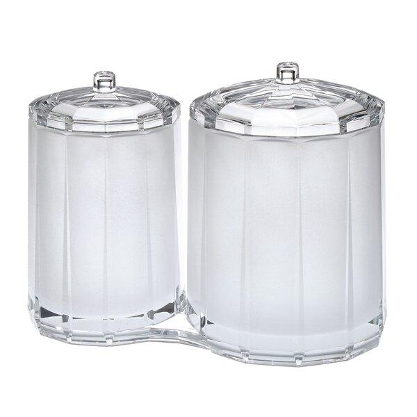 Faceted Cotton Swab Storage Jar by Chenco Inc.
