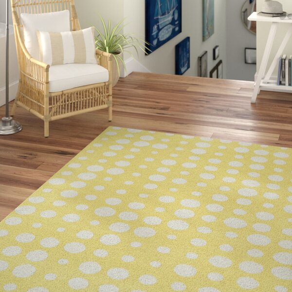 Noack Yellow Area Rug by Beachcrest Home