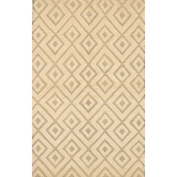 One-of-a-Kind Harwell Hand-Knotted Cream/Light Gray Area Rug by Isabelline