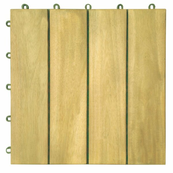 Plantation Acacia 12 x 12 Interlocking Deck Tiles