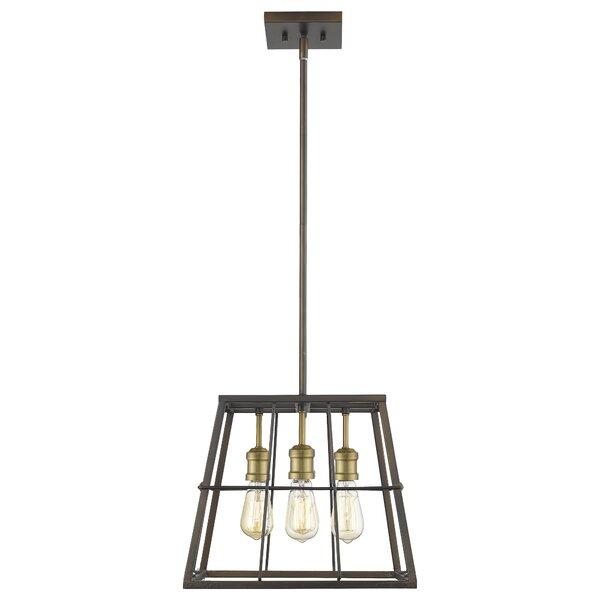 Thorson 4 - Light Lantern Geometric Chandelier By Williston Forge
