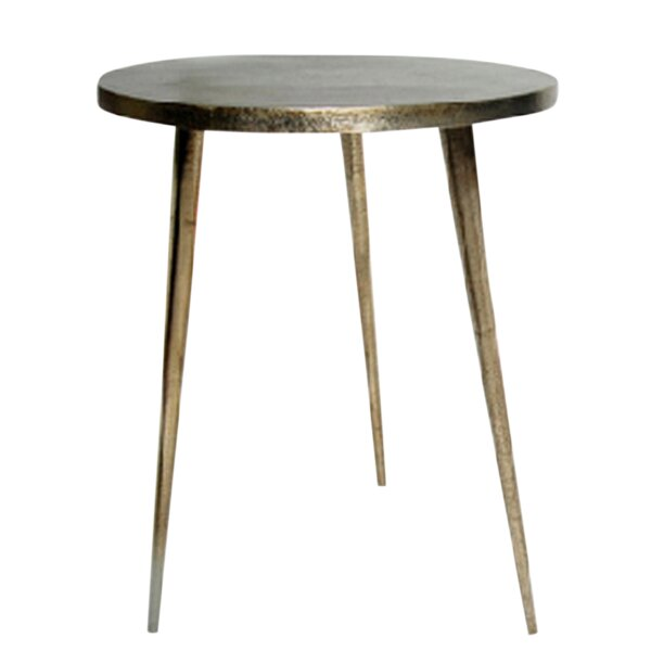 Candleick Cast Aluminum Tripod End Table by World Menagerie