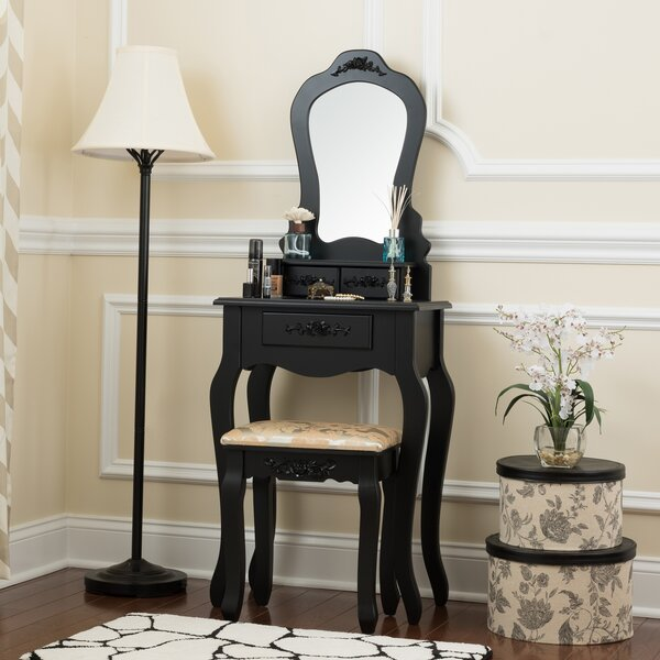 Powersville Elegant Vanity Set with Mirror by House of Hampton