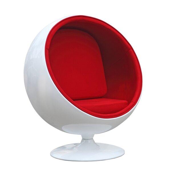 Schneider Swivel Barrel Chair by Orren Ellis Orren Ellis