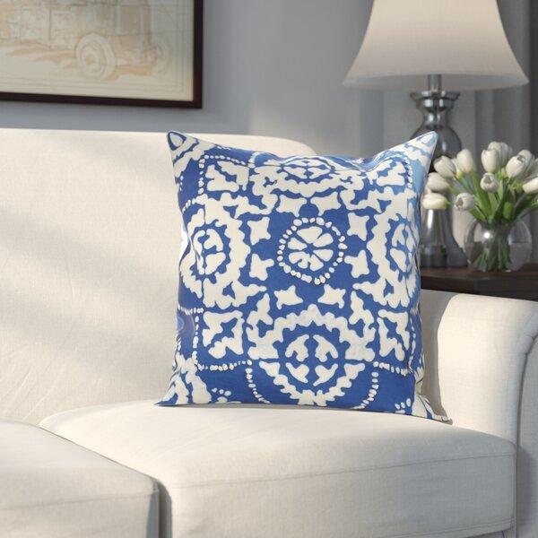 Clarktown Cotton Sheeting Throw Pillow by Alcott Hill