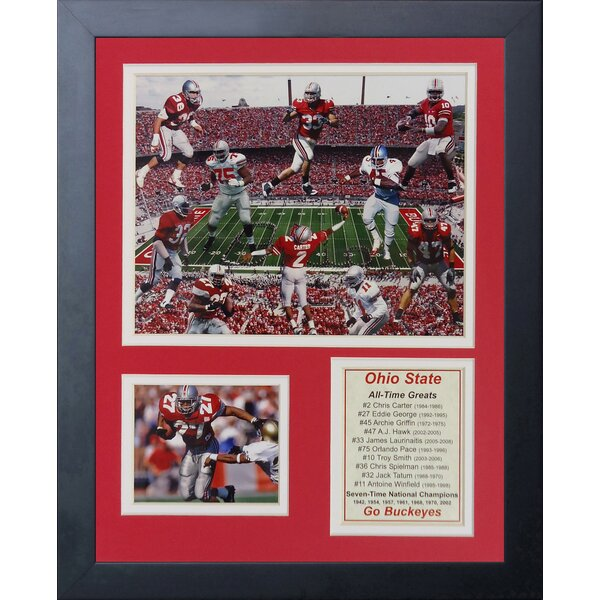 Ohio State Greats Framed Photographic Print by Legends Never Die