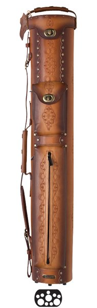 3 Butt and 7 Shaft Tooled Pool Cue Cases by Instroke