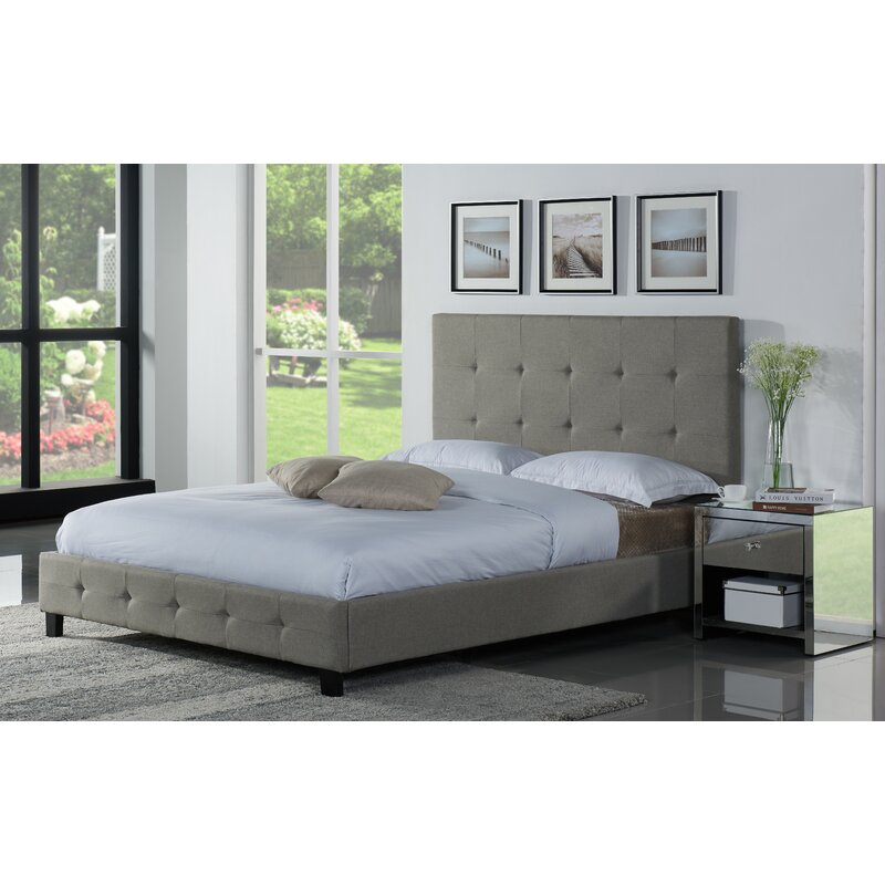 Latitude Run Tiara Upholstered Platform Bed & Reviews | Wayfair