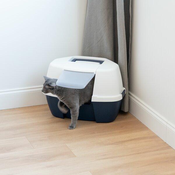 Hooded Corner Litter Box by IRIS USA, Inc.