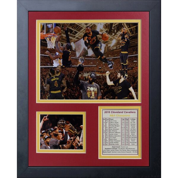 2016 Cleveland Cavaliers Championship Photo Collage Wall Décor by Legends Never Die