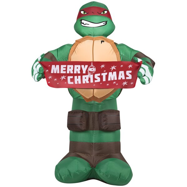 Raphael with Banner Christmas Inflatable by The Holiday Aisle
