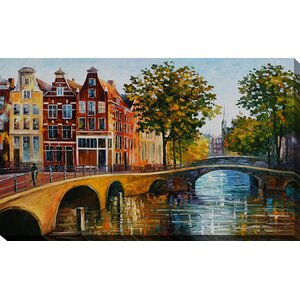 The Gateway to Amsterdam by Leonid Afremov Painting Print on Wrapped Canvas by Picture Perfect International