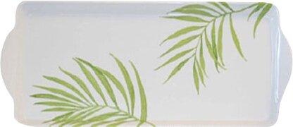 Bamboo Leaf Melamine Tidbit Rectangle Serving Platter by Corelle