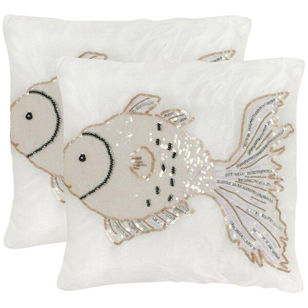 Kissy Fish Throw Pillow (Set of 2) by Safavieh