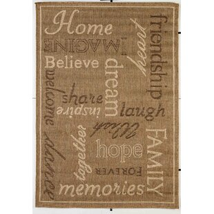 Affordable Price Kalama Brown Indoor/Outdoor Area Rug By Red Barrel Studio