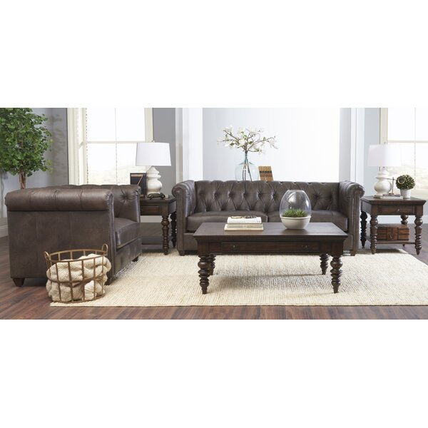 Kiana Leather Configurable Living Room Set by Darby Home Co