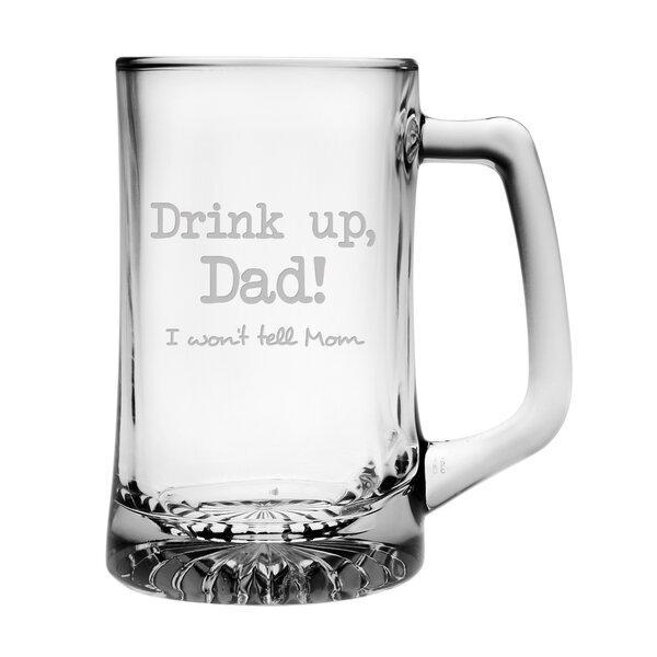 Drink Up, Dad! Jumbo Beer Mug by Susquehanna Glass