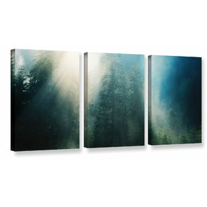 Sunny Showers 3 Piece Photographic Print on Wrapped Canvas Set by Latitude Run