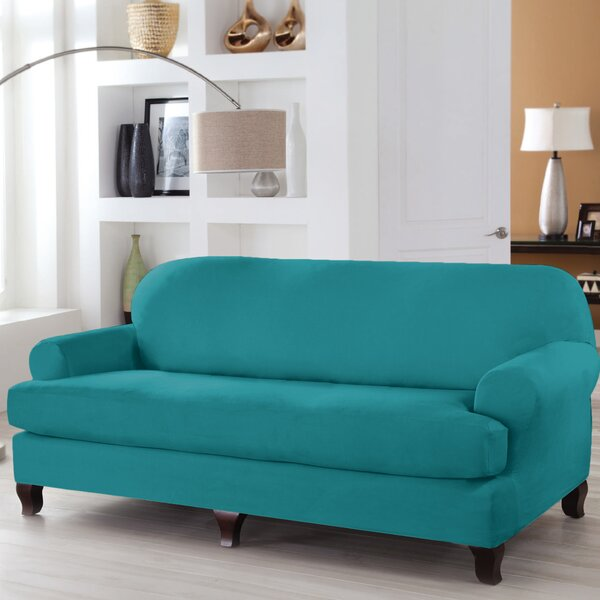 Serta® Stretch Fit T-Cushion Sofa Slipcover by Serta