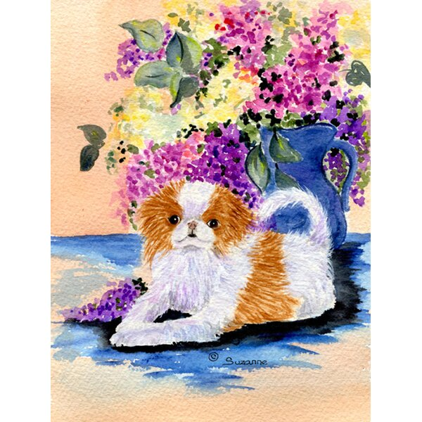 Japanese Chin House Vertical Flag by Caroline's Treasures