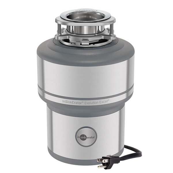 Evolution Excel 1 HP Continuous Feed Garbage Disposal (with Optional Power Cord) by InSinkErator