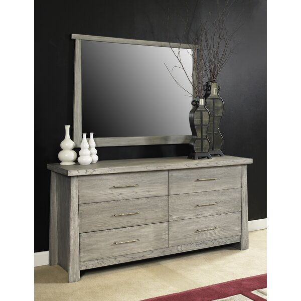 Emery 6 Drawer Double Dresser With Mirror By Loon Peak by Loon Peak 2020 Coupon