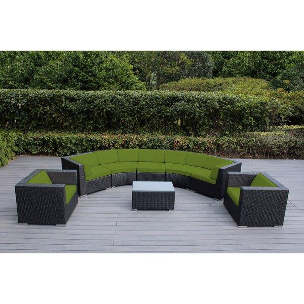 Popham 8 Piece Sunbrella Sectional Seating Gr with Cushions Brayden Studio FDDF1349