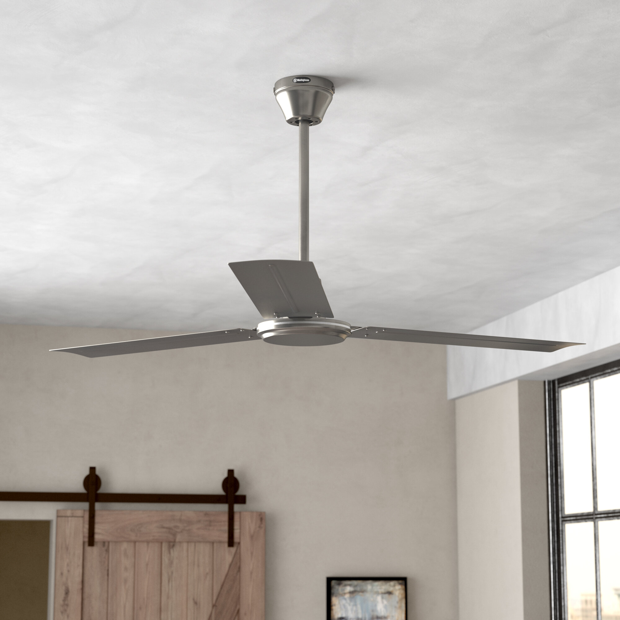 Zipcode Design 56 Emil 3 Blade Industrial Ceiling Fan Reviews Wiring On Fans Accessories Wayfair