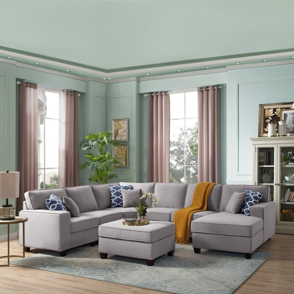 Horncastle Reversible Modular Sectional with Ottoman by Brayden Studio