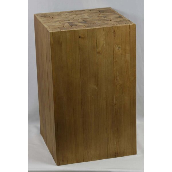 Arapaho Rustic Wood Accent Stool by Loon Peak