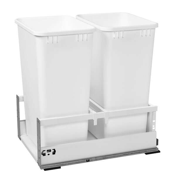 Double 12.5 Gallon Tandem Pullout Trash Cans by Rev-A-Shelf
