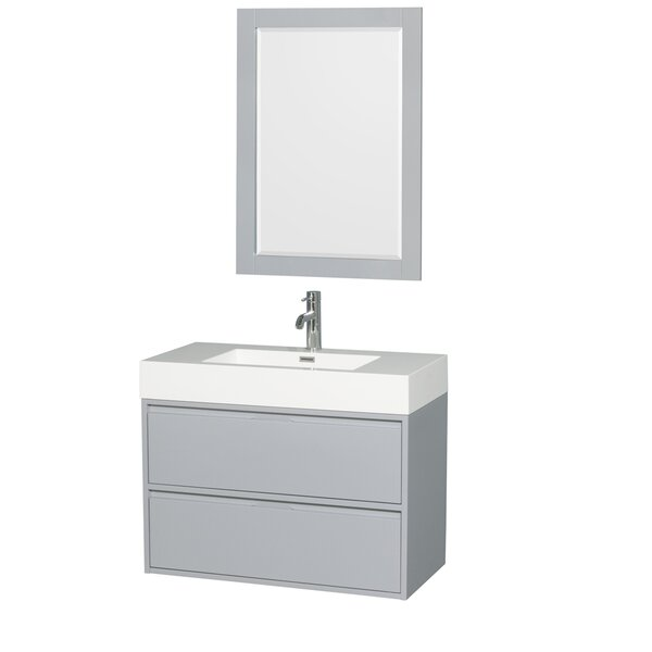 Daniella 35 Single Bathroom Vanity Set with Mirror by Wyndham CollectionDaniella 35 Single Bathroom Vanity Set with Mirror by Wyndham Collection
