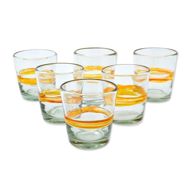 Strasser Ribbon of Sunshine Glass Every Day Glasses (Set of 6) by Red Barrel Studio