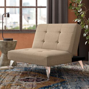 Lewis Solid Click-Clack Oversized Convertible Chair Trent Austin Design