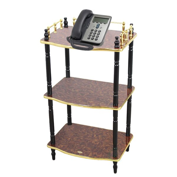 3-Tier End Table, Small Book Shelf, Accent Side, and End Table by Uniquewise