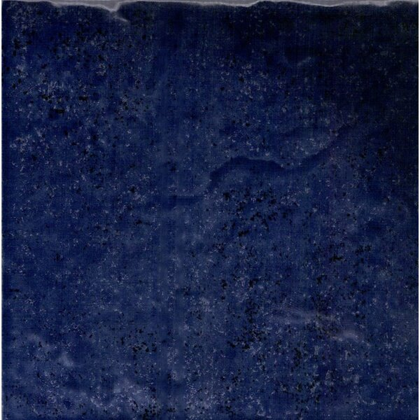 Seabreeze 6 x 6 Porcelain Field Tile in Midnight Blue (Set of 44) by QDI Surfaces