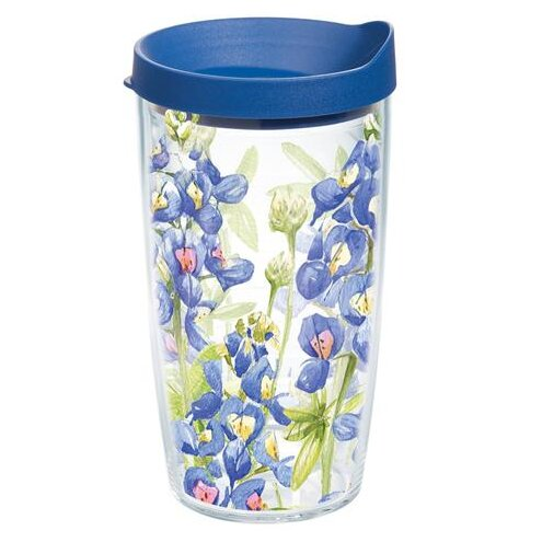 Garden Party Bluebonnet Plastic Travel Tumbler by Tervis Tumbler