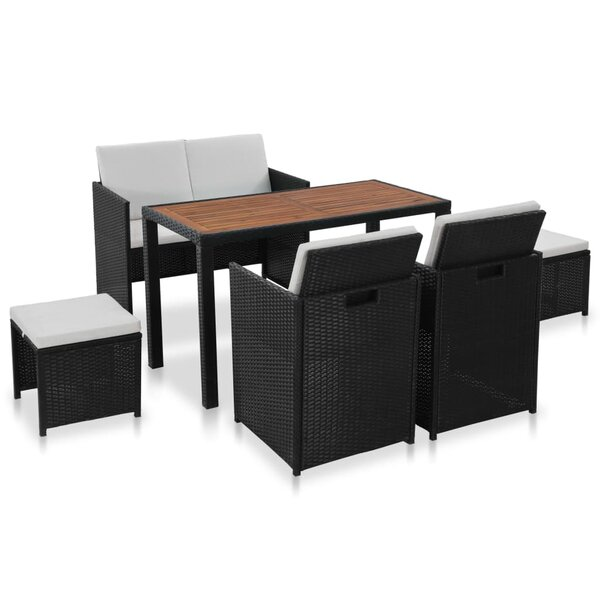 Maberley 6 Piece Dining Set with Cushions by Ebern Designs