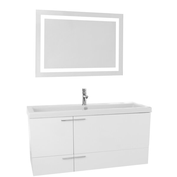 New Space 47 Single Bathroom Vanity Set with Mirror by Nameeks Vanities