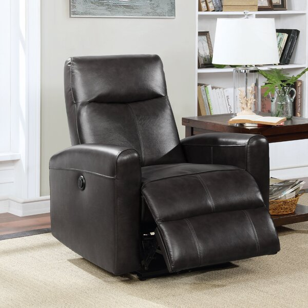Claredon Leather Electric Power Wall Hugger Recliner [Red Barrel Studio]