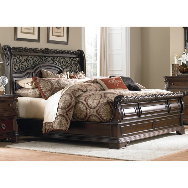 Kate Sleigh Bed by Astoria Grand