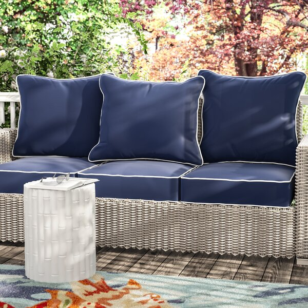 Ginsberg Indoor/Outdoor Sunbrella Sofa Cushion (Set of 3) by Beachcrest Home