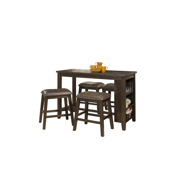 Balsam Spencer 5 Piece Solid Wood Dining Set by Charlton Home