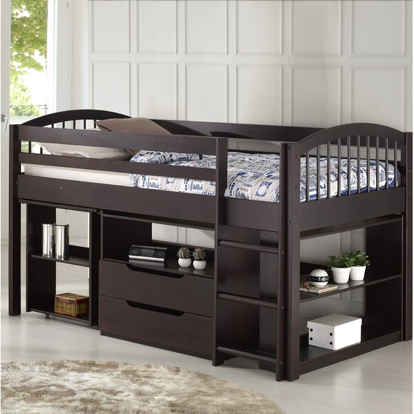 Abigail Twin Loft Bed With Desk And Storage By Zoomie Kids by Zoomie Kids Great Reviews