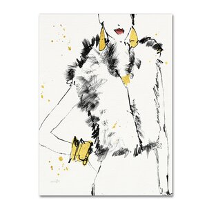 'Fashion Strokes IV' Print on Wrapped Canvas by Trademark Fine Art